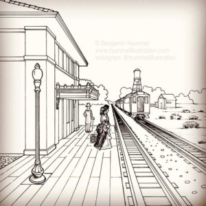 One Point Perspective - Chapter Illustration