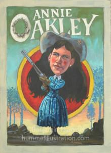 Annie Oakley Caricature