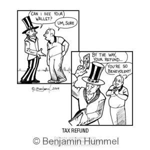 Tax Refund Funny Cartoon