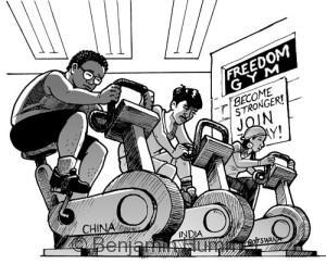 Freedom Gym - Magazine art for