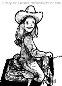 Girl on Horse - Character Study