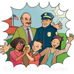 "Illustration for ""Students Can Help Keep Schools Safe"" children's book."
