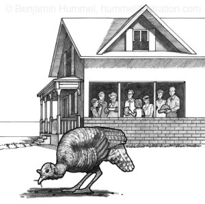 Thanksgiving - Chapter Book Illustration