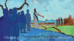 Approaching Jerusalem - Easter Art