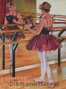 Ballerina in the Mirror - Fine Art