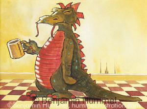 Coffee Dragon - Product Art