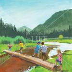 Crossing the Bridge - Picture Book Art
