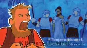 Peter's Denial - Easter Art
