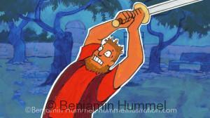 """""""Peter's Got a Sword!"""" - Easter Art"""
