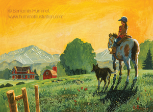 A Girl A Horse And Her Dog Book Cover Art