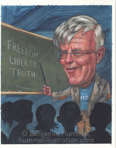 Hugh Hewitt Caricature