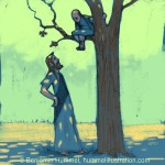 """Zacchaeus Was A Wee Little Man..."" Picture Book Art"