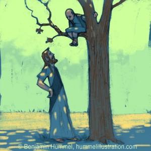 """Zacchaeus Was A Wee Little Man..."" Picture Book Art"