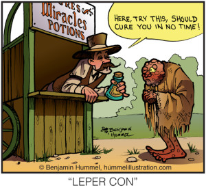 LEPER CON - Cartoon Illustration