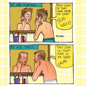 Turning 40 Cartoon