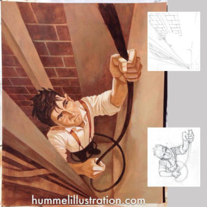 Lights On! Illustration by Benjamin Hummel - Picture Book for Children